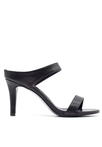 Twenty Eight Shoes black Strappy Slip-On Heels VS1891 TW446SH91DKYHK_1