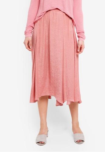 ICHI pink Art Skirt 2CDC0AABA76FF8GS_1