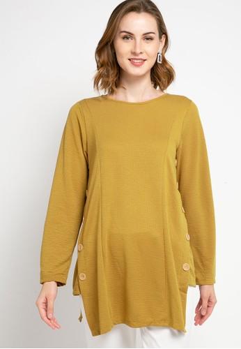 SIMPLICITY yellow Big Button Tunic 9EB75AA7E99976GS_1