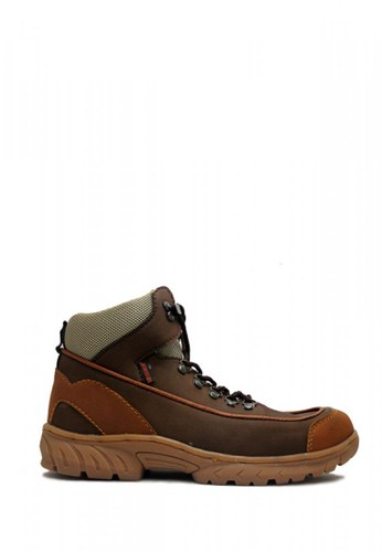 Cut Engineer brown Cut Engineer Safety Boots Iron Apple Tactikal Leather Dark Brown D549ASH3F108A0GS_1