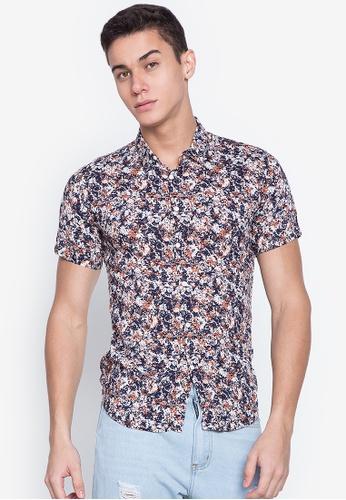 MICK + MARTY brown and multi Printed Short Sleeve Shirt 6F0BBAA4D7BEB9GS_1