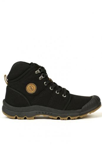 Aigle black Tenere Light Mid Canvass Men's Adventurer's Shoes F6248SHD014F22GS_1