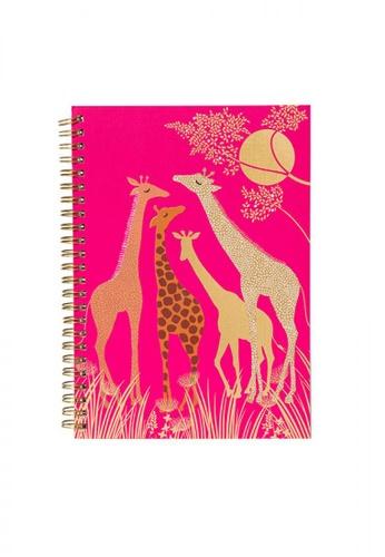 Sara Miller pink Sara Miller - A5 Notebook - Giraffe (SMIL3045) 7A5D8ACF96DB4DGS_1