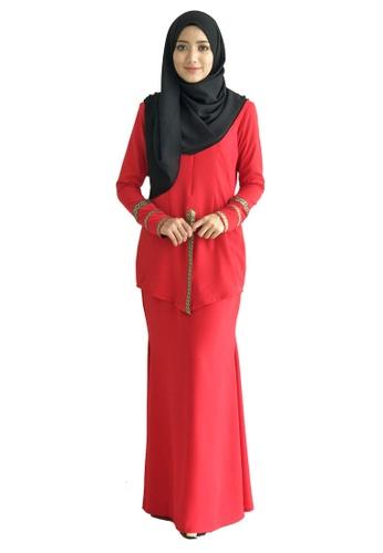 Farosa Kebaya Nazirah (Red) from Farosa in Red