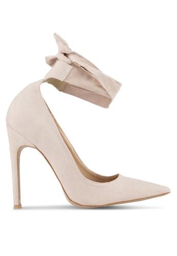 Public Desire beige Muse Tie Detail Court Heels PU378SH0S9OBMY_1