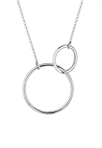 ELLI GERMANY Elli Germany 925 Sterling Silver Kalung Duo Circle Sterling Silver