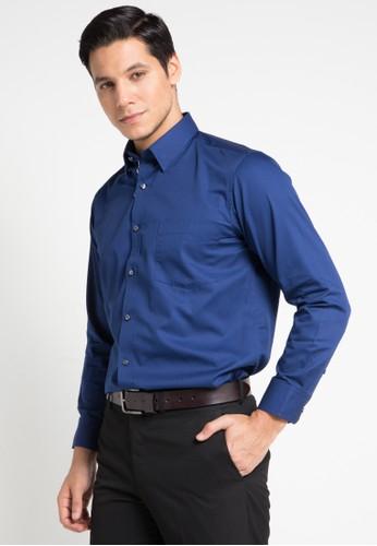 GQ MEN'S WEAR navy Regular Fit Long Sleeve Shirt 0777FAABF15FBDGS_1