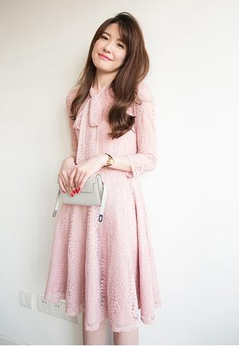 Sunnydaysweety pink Full Lace Pink One Piece DressC20050837PI E3E02AABD9F7E6GS_1