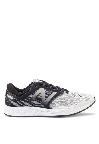 New Balance black and white Zante Performance Running Shoes 4DDCASHFF649EDGS_1
