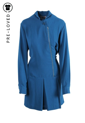 Acne Studios blue Pre-Loved acne studios Acne Dropwaist Teal Shirtdress 90335AAF21515AGS_1
