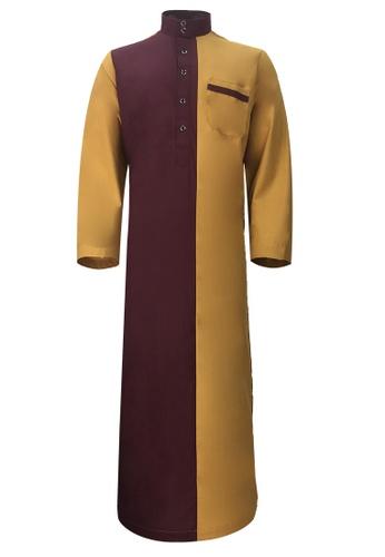 Pacolino brown Pacolino - Plain Formal Casual Long Sleeve Kid Jubah 845DDKAB214DEAGS_1