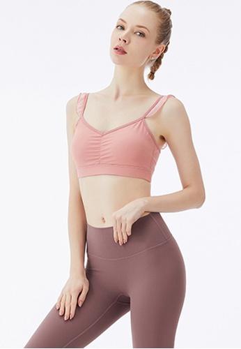 Trendyshop 粉紅色 貼身健身瑜伽胸圍 4A4FBUSCC280B2GS_1