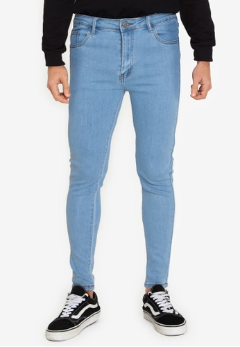 ZALORA BASICS blue Super Skinny Spray On Jeans 4E8D3AA4D14BB8GS_1