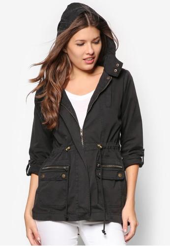 Olsen 純棉連帽外套, 服飾, 外zalora 評價套