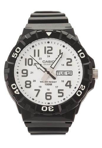 Casio black Casio Men's Analog Black Watch CA843AC87ADOMY_1