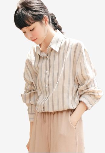 Shopsfashion beige Boyfriend Loose Fit Shirt 2045EAA26889E0GS_1