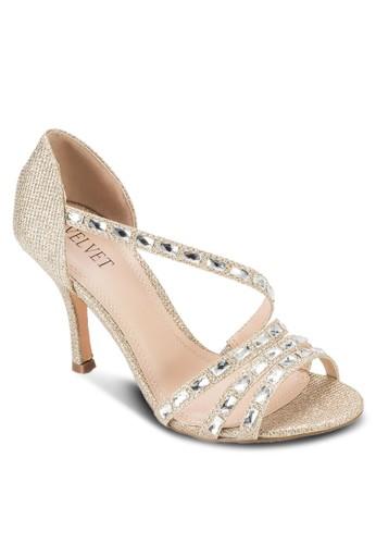 Occasion 鉚釘多帶高跟鞋, 女鞋,esprit手錶專櫃 細帶高跟鞋