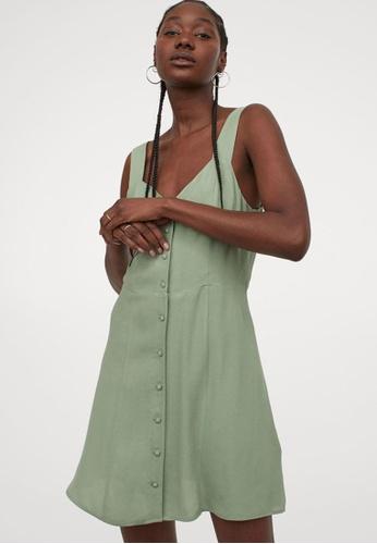 H&M green Sleeveless Dress 88288AA433C817GS_1