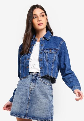 bc51e3e528f231 Shop Vero Moda Katrina Cropped Denim Jacket Online on ZALORA Philippines
