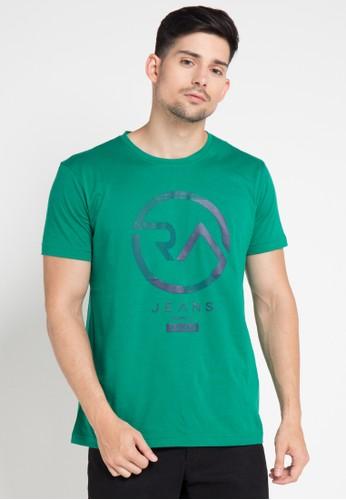 RA Jeans green Reborn Logo Tee RA626AA0VXUYID_1