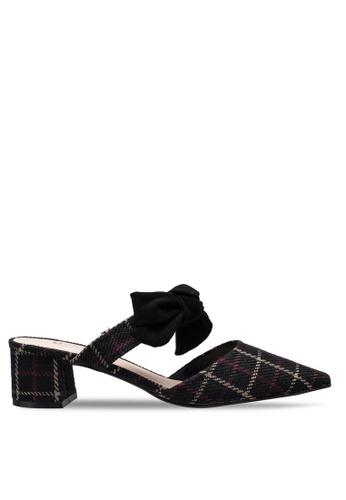 Kimmijim 黑色 Roseanne Pointed Toe Mules Block Heels 098E7SHDDBFC09GS_1