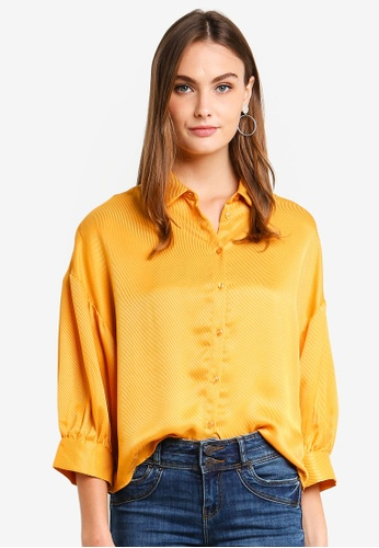 Vero Moda yellow Edith 7/8 Shirt B24B0AA01F6075GS_1