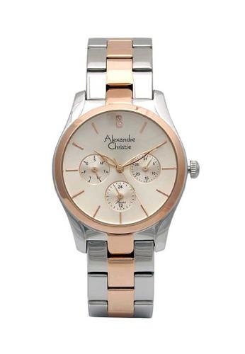 Alexandre Christie silver Alexandre Christie Jam Tangan Wanita  - Silver Rosegold - Stainless Steel - 2910 BFBTRLN 9E630AC936A8D0GS_1