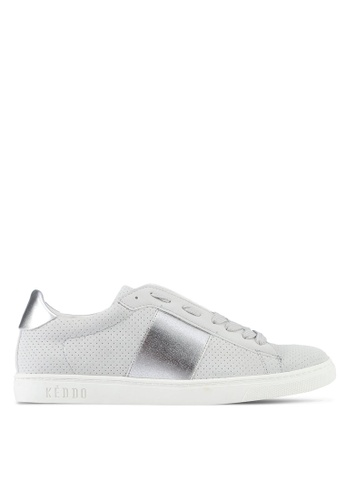 Keddo grey Elastic Detail Laced-Up Sneakers C06A3SH559036AGS_1