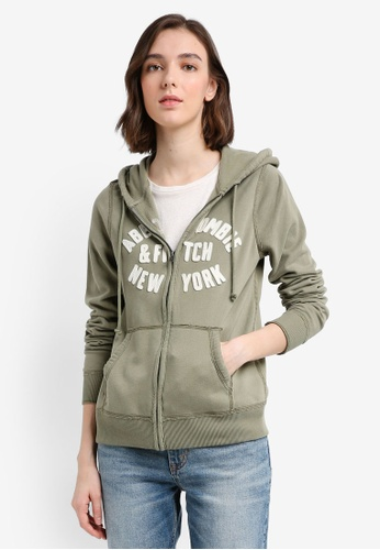 Abercrombie & Fitch green Tech Logo Hoodie 828FBAA9CCE028GS_1