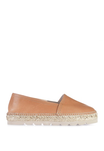 TONI PONS brown ALMA-P CAMPING LEATHER - Slip-On Espadrilles 7C2FBSH74D7284GS_1