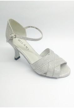 OD 500 Glitz Open Toe Nimfa Ballroom Dancing Shoes with Ankle Strap.