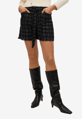 Mango black Tweed Shorts 041B2AAA03F8B8GS_1