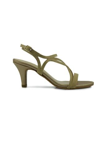 SHINE beige Slingback Strapy Heels SH554SH0FVEDSG_1