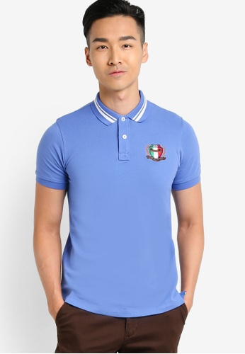 MILANO blue Short Sleeve Polo Shirt MI248AA92LGTMY_1