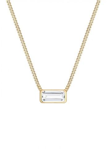 Elli Germany gold Perhiasan Wanita Perak Asli - Silver Kalung Steling Silver Rectangle Geo Gold Plated EL948AC0V7ZVID_1