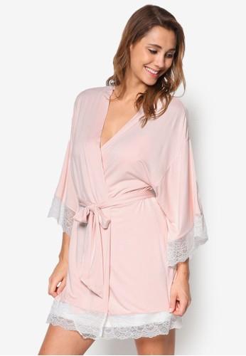 Serafina 和風裹飾睡esprit hong kong 分店裙罩衫, 服飾, 睡袍