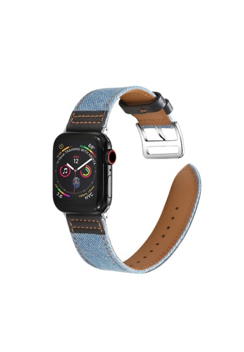 Kings Collection blue Genuine Leather Apple Watch Band 38MM / 40MM (KCWATCH1008) 09270AC568BFF2GS_1