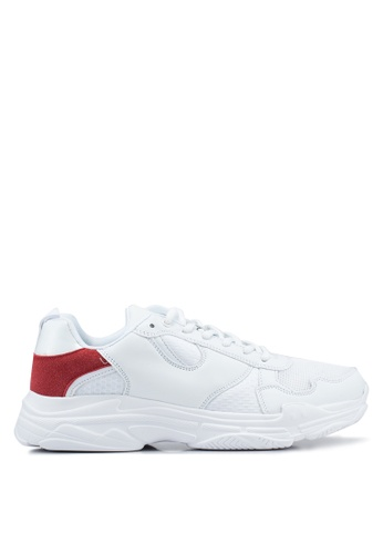 Brave Soul white Niles Chunky Trainers A11CASH1F211FEGS_1