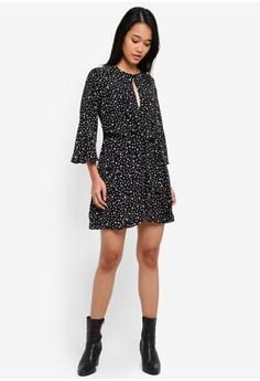 0de267ef0b18 50% OFF TOPSHOP Petite Knot Front Mini Dress S  99.90 NOW S  49.90 Sizes 6