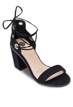 Tie-up Block Heel Sandals
