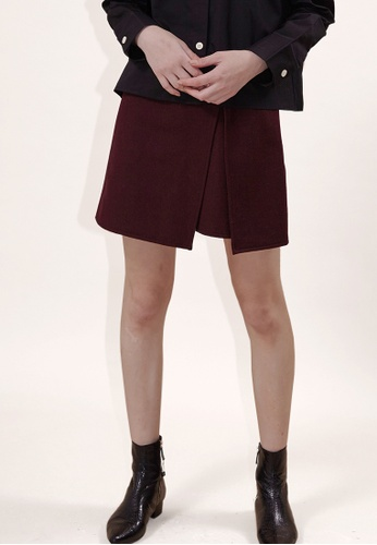 OUTSTANDING ORDINARY red Prejudice Wrap Skirt OU203AA0GIW1SG_1