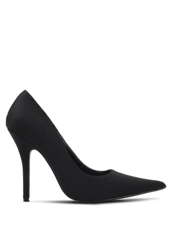 Public Desire black Tease Stiletto Court Heels PU378SH0SIQFMY_1