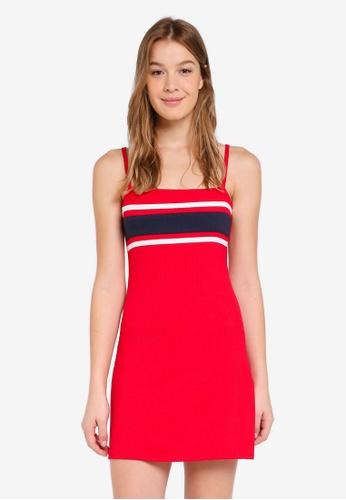 Hollister red Sporty Knit Dress E917FAA90E83FBGS_1