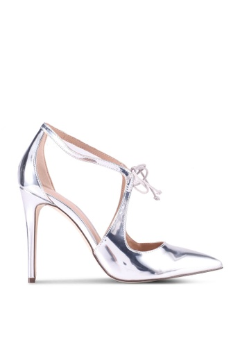 Call It Spring silver Truvia Pointed Toe Ankle Strap Heels 707A8SH4427911GS_1