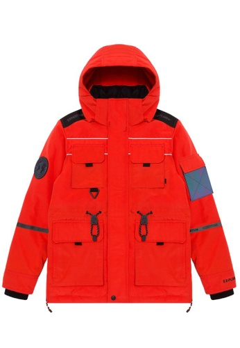 Fingercroxx orange Patch down jacket 668E7AAD78E9E9GS_1