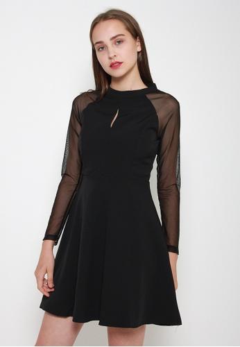Leline Style black Kaitlynn Mesh Dress 53490AA24E1FE3GS_1