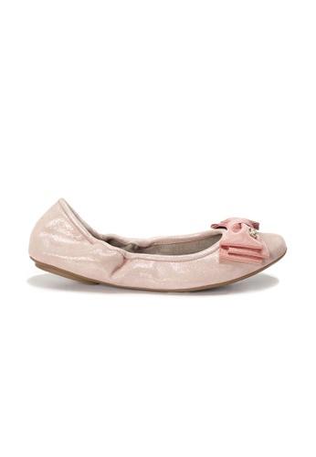 Shu Talk pink AMAZTEP NEW Comfy Sole BOW Ballerina Ballet Flats 17D43SHECF0326GS_1