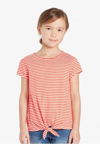 Gen Woo red Striped Casual T-Shirt By Gen Woo 27F14KA618986FGS_1