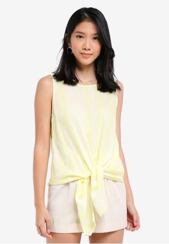 ESPRIT yellow Woven Sleeveless Blouse 81743AA89AEE9CGS_1