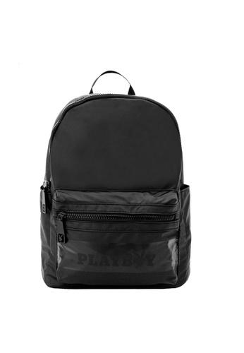Playboy black Backpack 7B114ACB8D46B4GS_1